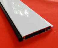Base rail with rubber strip