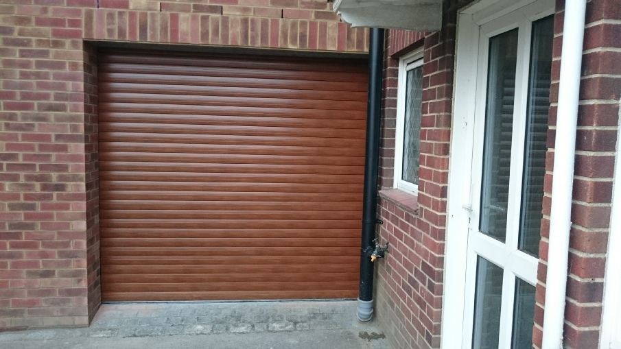Golden Oak Optima 77 roller door